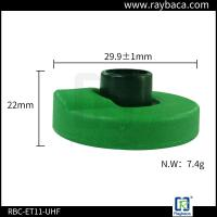 Green Two Pieces RFID Livestock Tags Laser Printing With ICAR Certification Manufactures