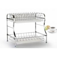 China 2 Tier Stainless Steel Storage Racks On Wheels Free Move For Home Kitchen on sale