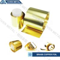 Industrial Shiny Golden Yellow Brass Copper Foil For Stamping / Die - Cutting Manufactures