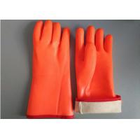 Fluorescent Double Dipped PVC Gloves 35cm Length With Foam Insulated Liner Manufactures