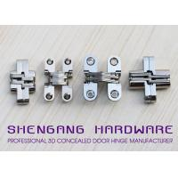 Quality Door Hardware Invisible Stainless Steel Hinges With Satin Chrome Finish for sale