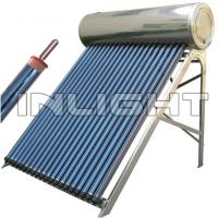 ISO 45 Degree Heat Pipe Solar Water Heater Collector With Security Valves Manufactures