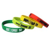 Quality Promotional Debossed Silicone bracelet/wristband for sale