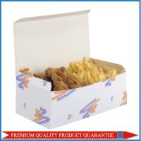 Pre Glued Bottom Self Locking Food Grade Paper Packaging Box for Fried Potato Manufactures