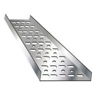 China Chemical Factory Trough Type Cable Tray , Aluminum Ladder Cable Tray Support System on sale