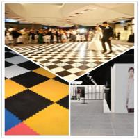China 3W Interlocking Plastic Iinyl Dance Flooring Tiles Patterns For Exhibitions Hall on sale