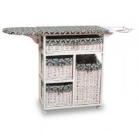 Storage Case/Box with Ironing Board, Made of Cany and Natural Rattan Manufactures
