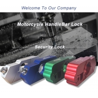 Universal Motorcycle Handle Throttle Grip Security Lock with 2 Keys to Secure a Bike, Scooter, Moped or ATV