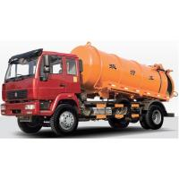 China KEG Piple Nozzle 60 Meters Sewer Cleaning Truck / 8 CBM Vacuum Sewage Drainage Truck on sale