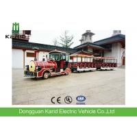 Eco Friendly 42 Passenger Electric Trackless Train For Sightseeing Customized Color Manufactures