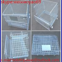 China folding steel storage cage/industiral storage cabinets/security cage/pallet cage/metal storage cage/wire cage on sale