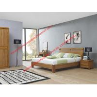 Super Quality wooden Apartment design import ruber solid wood latest bedroom furniture suite by bed and sliding wardrobe Manufactures