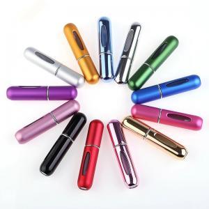 China Portable 5ml Mini Travel Aluminium Refillable Empty Perfume Atomizer Spray Bottle on sale