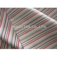 Soft Handfeel Cotton Nylon Fabric Spandex, Twilled Weave Stripe Cloth Material Manufactures