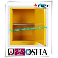 Yellow Industrial Safety Cabinets , Flame Proof Storage Cabinets With Double Lock Manufactures