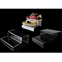 Custom Multi Tiers Plastic Shoe Display Stands Acrylic Shoe Display Riser Manufactures
