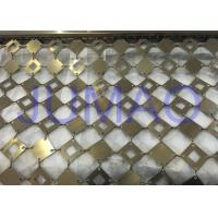 China Anti Corrosion Decorative Metal Curtains With Square Plates Space Partition on sale