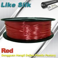 Imitation Silk Filament Polymer Composites 3d Printer Abs Filament Red Color Manufactures