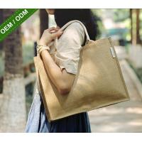 Customized Jute Tote Bags Fashion Large Reusable Shopping Bags for Women Manufactures