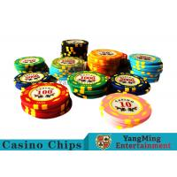 11.8g Texas Holdem Metal Casino Poker Chips Round Shape With 40mm Diameter Manufactures