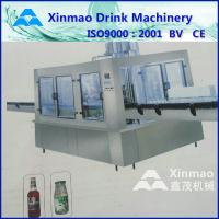 China Rotary Milk Glass Bottle Filling Machine With Filler , CE / ISO Approved on sale
