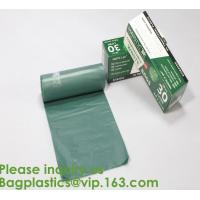 Heavy Duty Compostable T-shirt Handle Tie Plastic Roll Garbage Bags Trash Bags,
