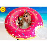 China EN71 Factory Popular OEM Pool Floating Pink Donut Swimming Ring Water Giant 120cm Chocolate Donut Ring wholesale
