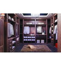MDF Panels Wooden House Furniture Design Walk in Closet Storage Manufactures