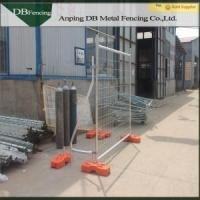 Hot Dipped Galvanized Australian Temporary Fencing For Traffic / Crowd Control Manufactures