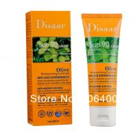 NO.DS51006 olive Moisturizing Sun Cream SPF90 PA++,Sunscreen for skin and body Manufactures