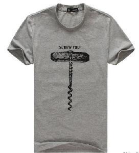 China Brand Top Fashion T-Shirt Men Cotton T Shirt Screw (DT76) on sale