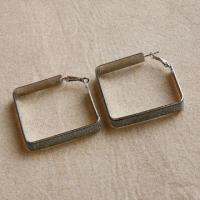 Nickel-free Square Shape Hoop Earrings, Available in Various Designs, Diamond-shaped/Hot Selling Manufactures