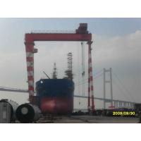 China Electric Gantry Crane 200 ton Heavy Duty Gantry Crane , Shipyard Cranes For Ship Building on sale