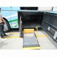 Powerful wheelchair lift for coaches and tourist buses installed in luggage Manufactures