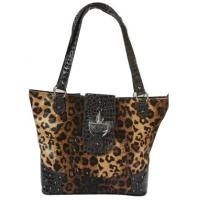 leopard pattern western shoulder bags for women cowgirl fashion