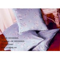 Quality Elegant Plum Transfer Printing Fabric with 100% Polyester Material for Curtains for sale