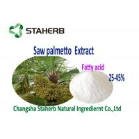 Natural Antioxidant Supplements Saw Palmetto Fruit Extract Fatty Acids 25% 45% Manufactures