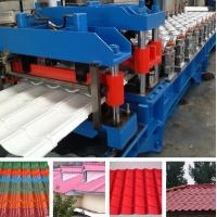 Hydraulic Pressing Roof Color Steel Tile Roll Forming Machine in Blue Manufactures