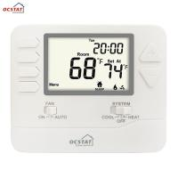 White Backlight Multi Stage  HVAC FCU Programmable Gas and Electric Digital Heating Room Thermostat Manufactures