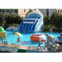 Giant Metal Frame Pool , Above Ground Pool Water Slide For Amusement Park Manufactures