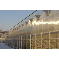 3 ridges per span Multi - span polycarbonate Commercial greenhouses , 4000mm section Manufactures
