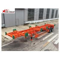 2/3 Axles Port Yard Terminal Trailer Heavy Duty Tandem Leaf Spring Suspension Manufactures