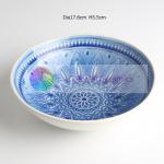 Kitchenware Unique Handmade Ceramic Bowls Crackle Glaze Intaglio Style Manufactures
