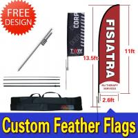 Quality Teardrop / Feather Flags Banner With 2.3kg Cross Base + Water Bag for sale