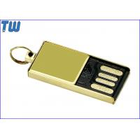 Tiny Delicate Glossy Golden Metal 4GB Flash Drive Free Key Ring Manufactures