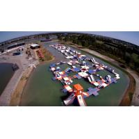 250 People Giant Inflatable Water Park Games, TUV Certificate Inflatable Wipeout Course Manufactures