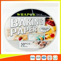 Round Silicone Baking Paper Sheets , Greaseproof Non Stick Paper For Baking Manufactures