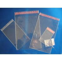 Flexible Clear Plastic Pouches Packaging Leakproof With Self Adhesive Strip Manufactures