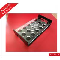 Eco - friendly Acrylic Holder Stand / Wine Bar Glass Display Rectangle Shape Manufactures