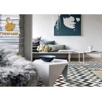 Large Size Eco-friendly TPR Custom Area Rugs Slip Resistant Printing Square Area Rugs    Manufactures